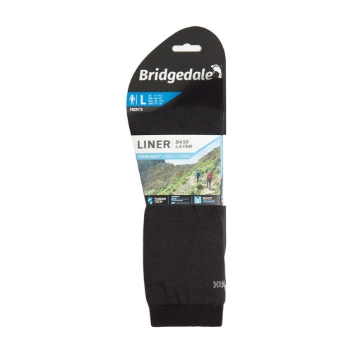 Sosete Interioare Bridgedale Base Liner Coolmax Boot Men's Liners - 2 Perechi