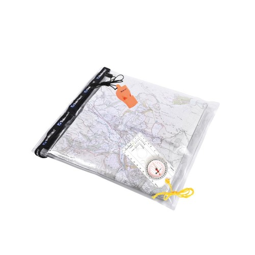 Set Husă pentru Hartă, Fluier și Busolă Trekmates Dry Map Case, Compass  Whistle Set